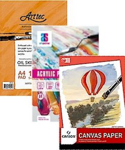 Canvas Paper Pads for Oil & Acrylic